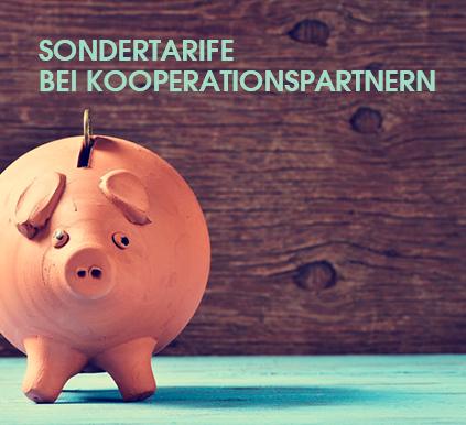 Spare Geld: Sondertarife bei Kooperationspartnern